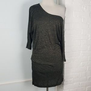 French Connection shimmer sweater dress